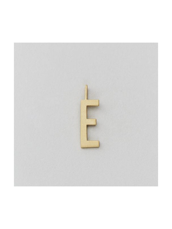 Design Letters Archetype Charm 16 mm Gold E