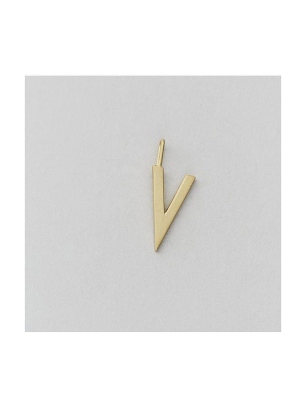 Design Letters Archetype Charm 16 mm Gold V