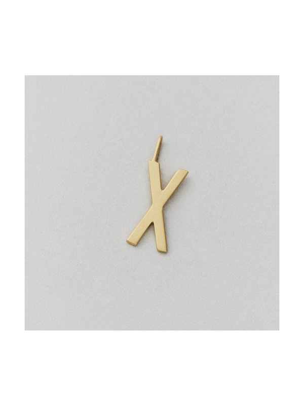 Design Letters Archetype Charm 16 mm Gold X