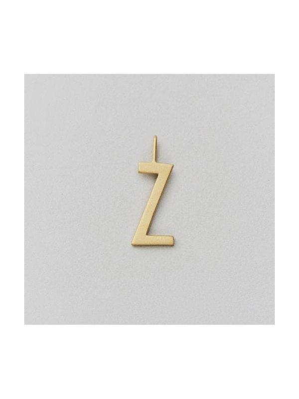 Design Letters Archetype Charm 16 mm Gold Z