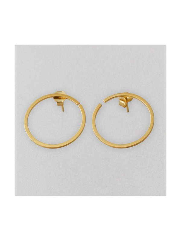 Design Letters Earring Hoop 24 mm Gold