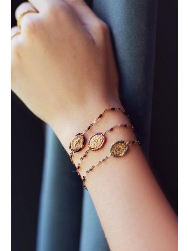 My Jewellery Armband Orientaalse Munt Zwart/Goud