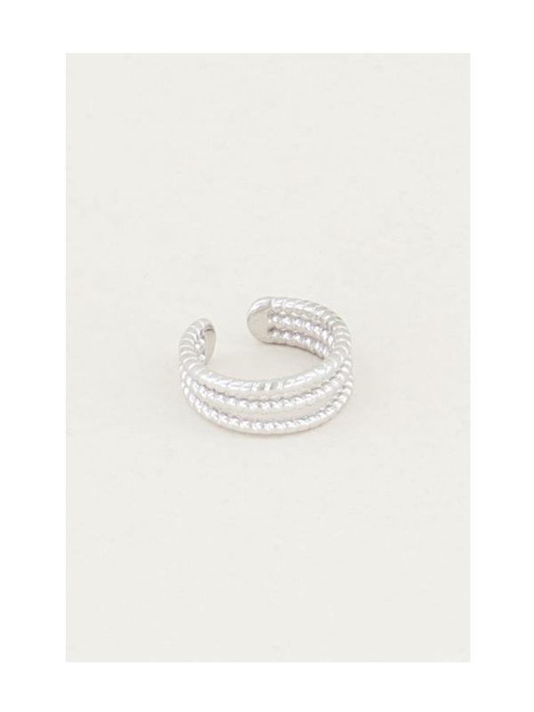 My Jewellery Ear Cuff Drie Ringetjes Silver