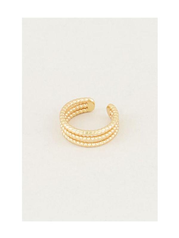 My Jewellery Ear Cuff Drie Ringetjes Goud