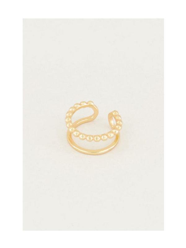 My Jewellery Ear Cuff Dubbele Ring Goud