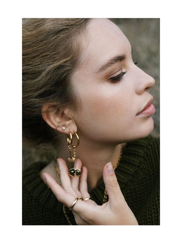Wildthings Bubble Ear Cuff Gold