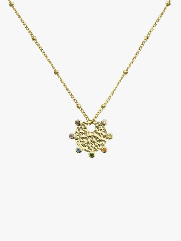 Wildthings Paint Pallet Pendant Gold