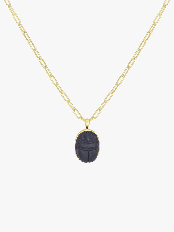 Wildthings Scarab Necklace Pendant Gold