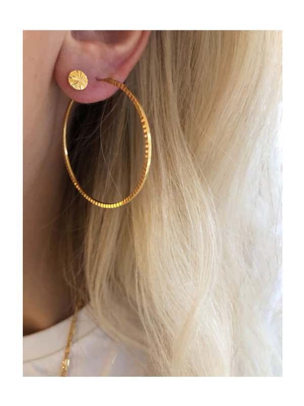 Stine A Big Etoile Creol Earring Gold