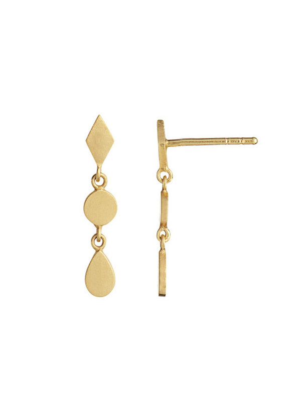 Stine A Dangling Petit Silhouettes Gold With Harlekin, Coin And Teardrop