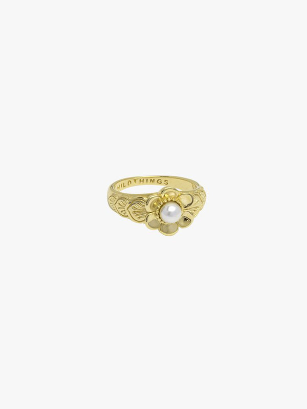 Wildthings Fleur Pinky Ring Gold