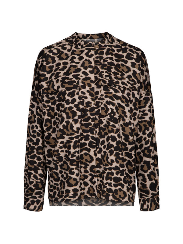 Shirt Aleksandrine Brown Leopard