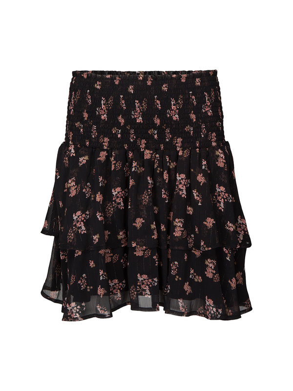 Koraline Skirt Flower Black Pink