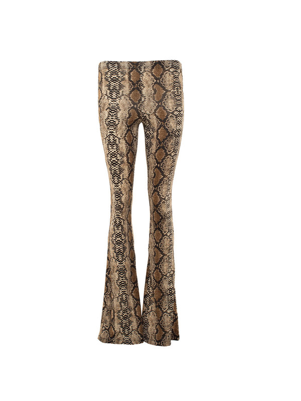 By Sara Collection Katie Snake Flair Pants