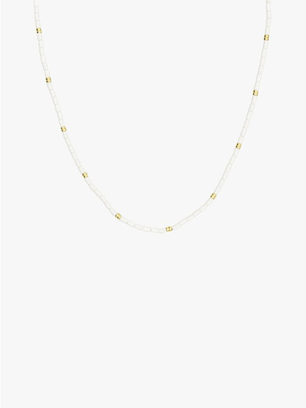 Wildthings Ivory Necklace Gold White