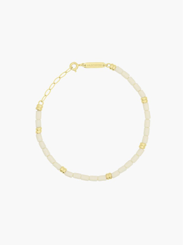 Wildthings Ivory Bracelet Gold White