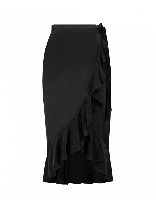 Isadee Black Skirt Ruffle