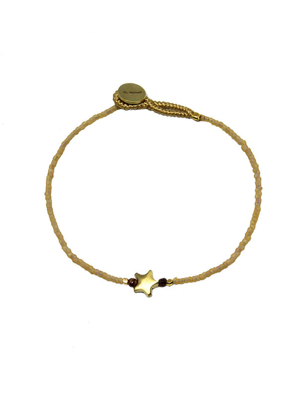 Ibu Jewels Bracelet Star Beige