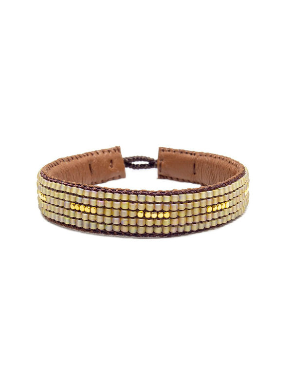 Ibu Jewels Bracelet Stripes Beige