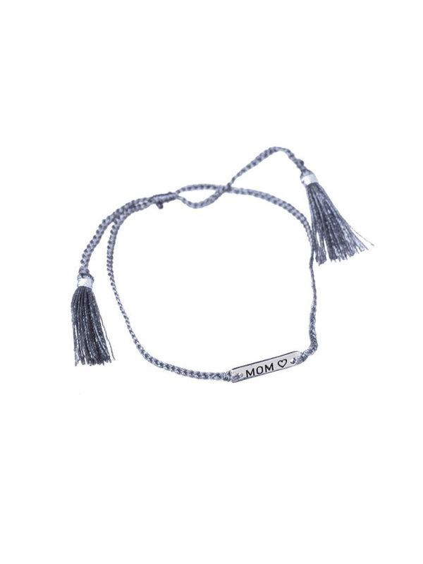 Xzota Bracelet Mom Brass String Grey/Silver.