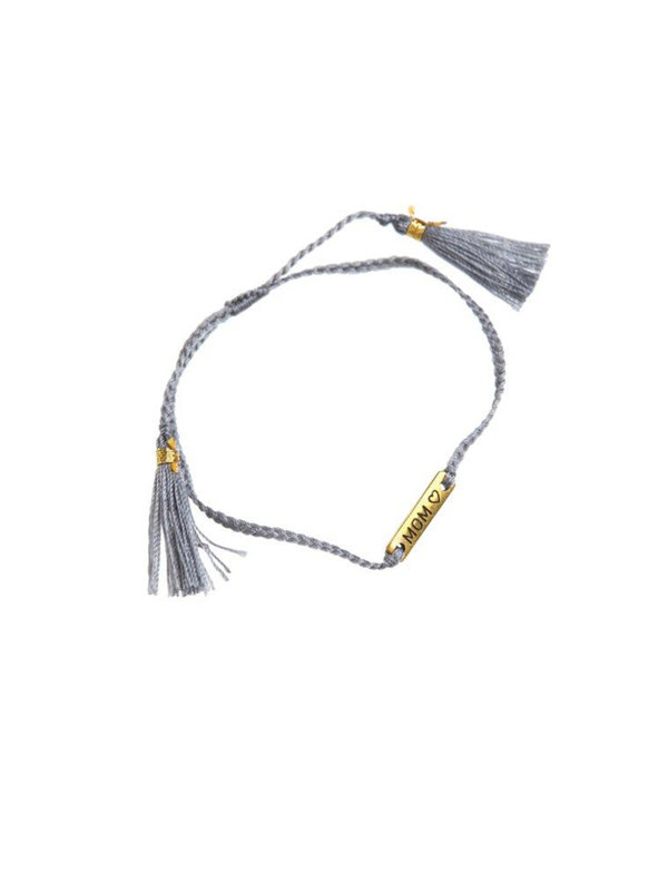 Xzota Bracelet Mom Brass String Grey/Gold.
