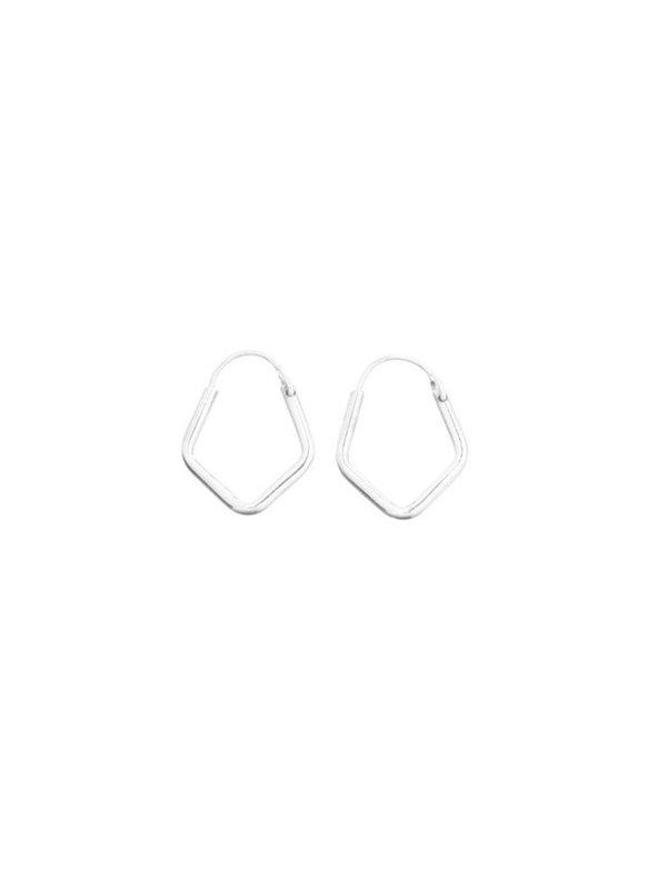 Xzota Earring Silver Pentagon