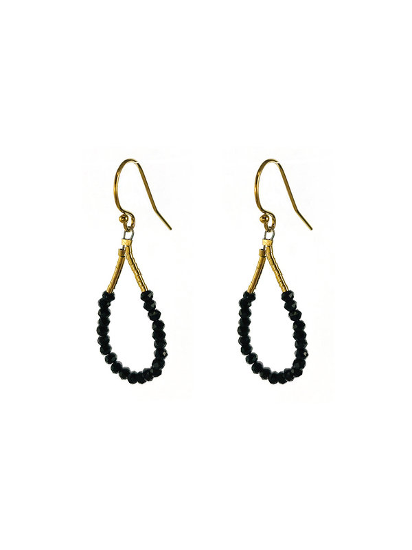 Blinckstar Blinckstar Earring Hook Faceted Spinel Rondells Mini Gold 192B64