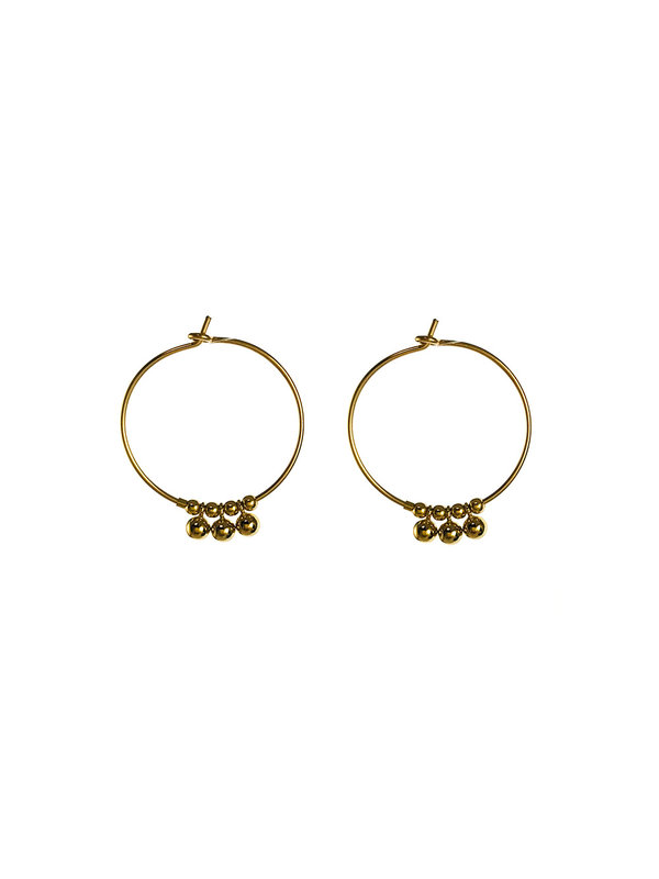 Blinckstar Earring Hoop Drop Three Gold