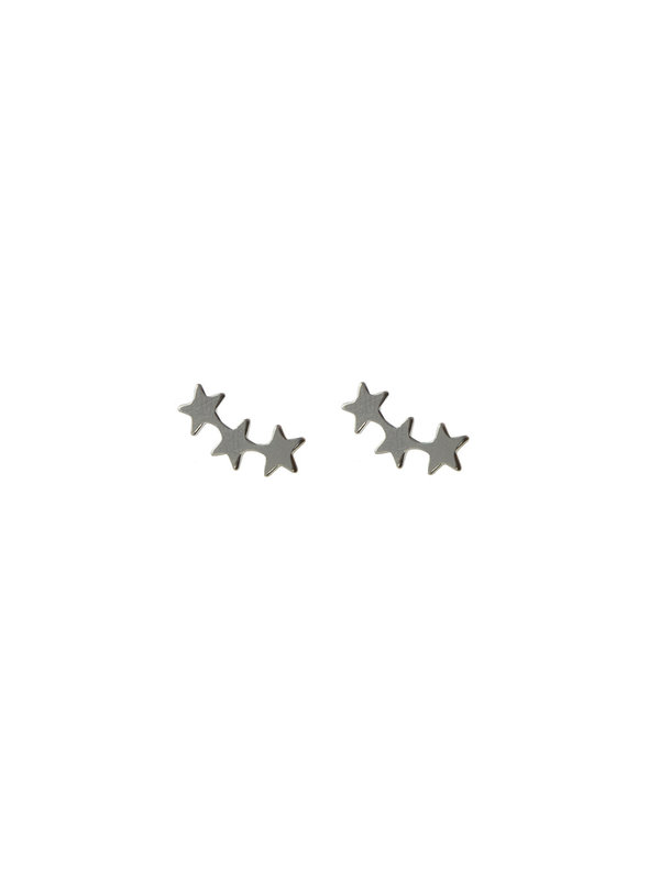 Earring Stud Star Climber Silver