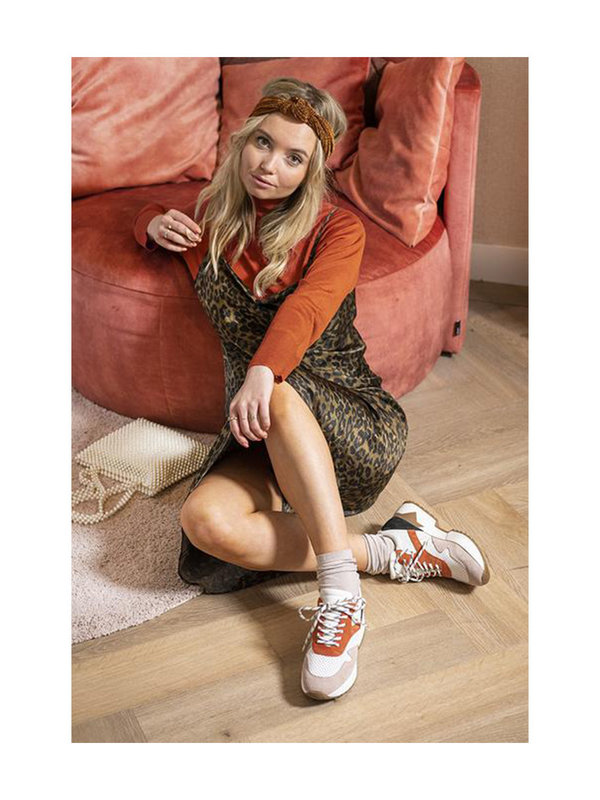 DW\\RS Sydney Sneakers Wit/Roest/Roze
