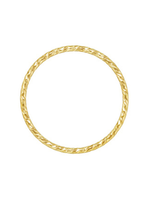 Blinckstar Ring Twisted Wire Gold