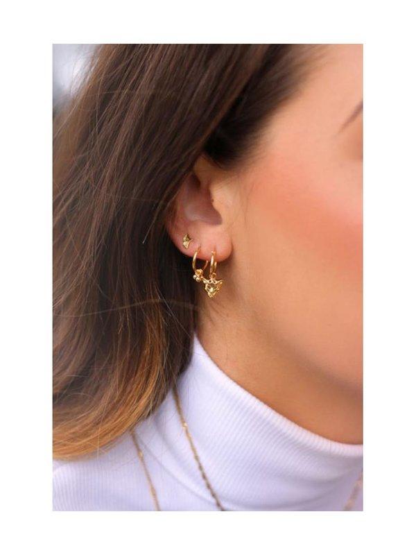 My Jewellery Studs Blaadje Goud