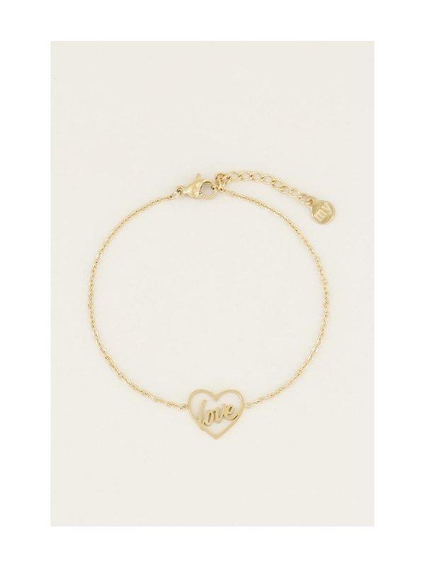 My Jewellery Moments Bracelet Love Goud
