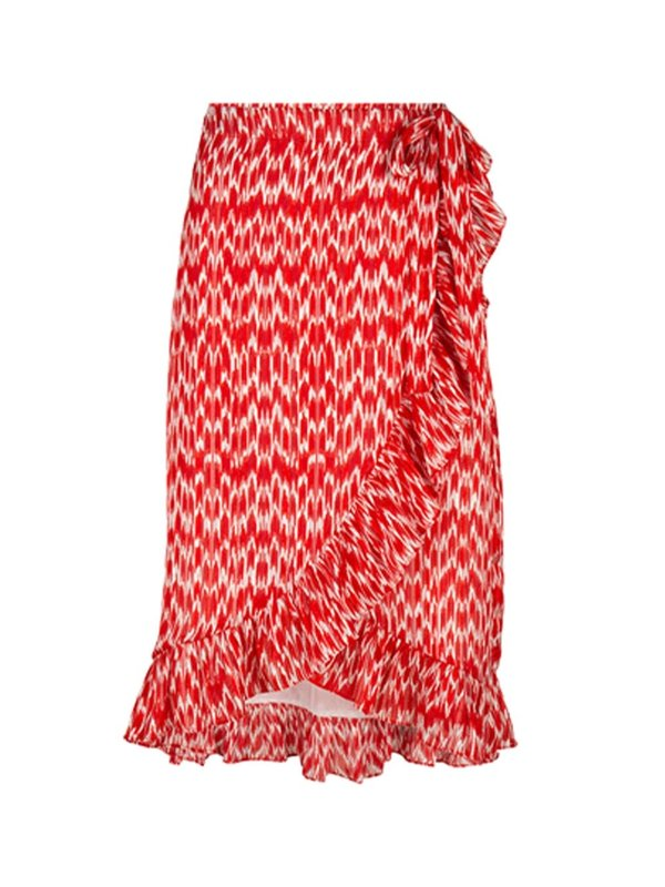 Blake Seven Macie Wrap Skirt Red