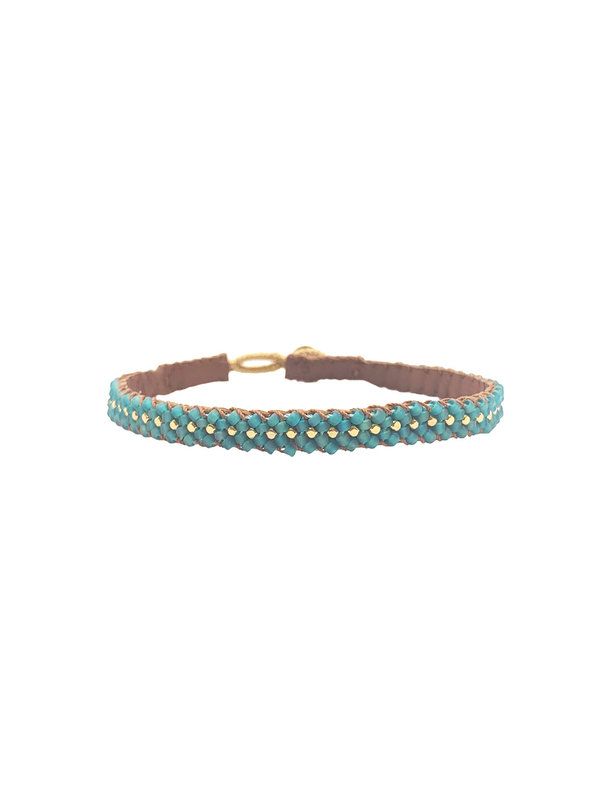 Ibu Jewels Bracelet Lace Aqua