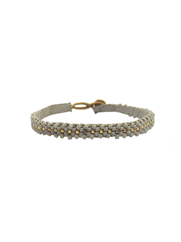 Ibu Jewels Bracelet Lace Soft Grey