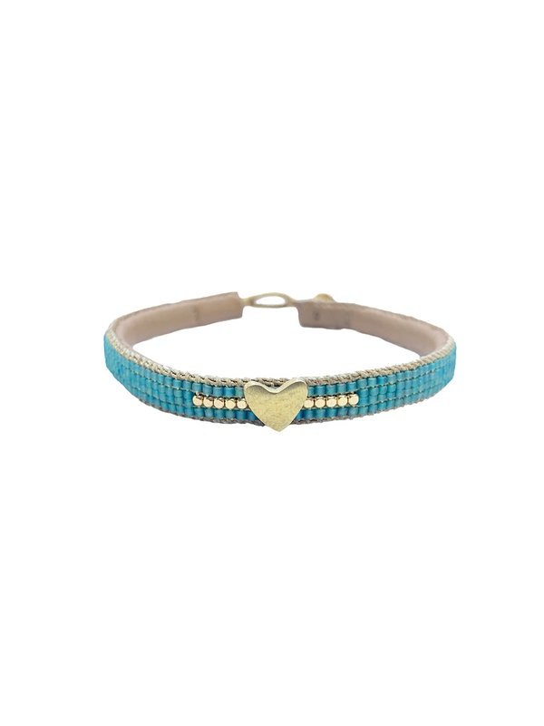 Ibu Jewels Bracelet Heart Aqua