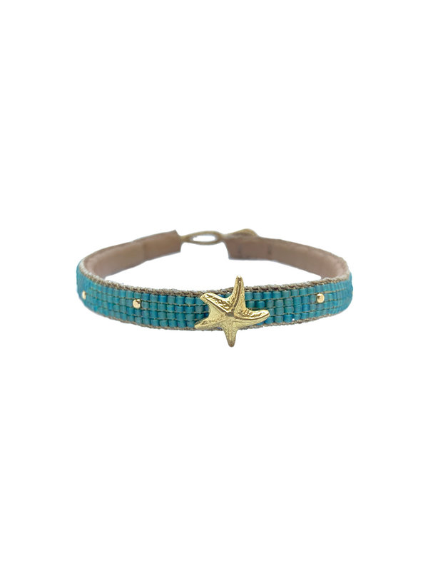 Ibu Jewels Bracelet Starfish Aqua