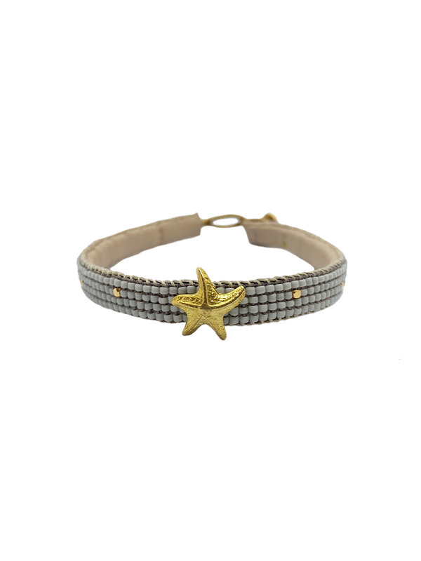 Ibu Jewels Bracelet Starfish Soft Grey
