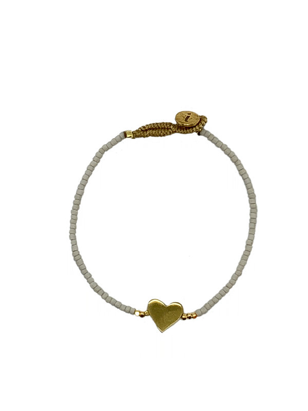 Ibu Jewels Bracelet Lulu Little Heart Soft Grey
