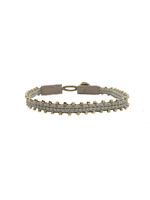 Ibu Jewels Bracelet Fishbone Soft Grey