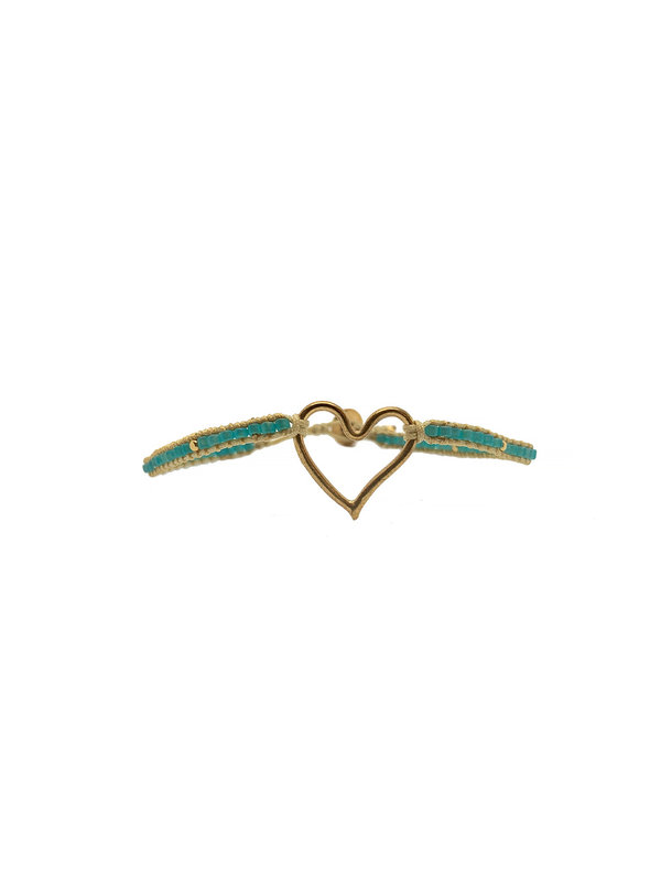 Ibu Jewels Bracelet Jill Heart Aqua