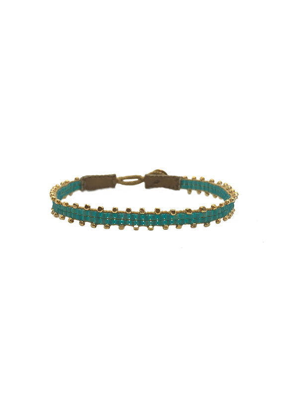 Ibu Jewels Bracelet Fishbone Aqua