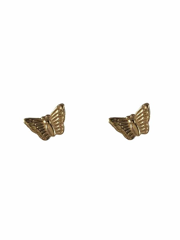 Blinckstar Earring Butterfly Stud Gold
