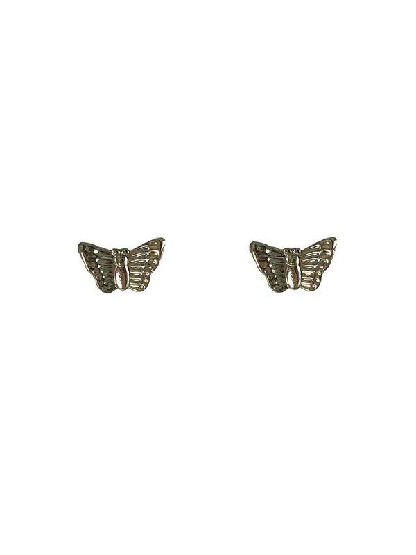 Blinckstar Earring Stud Butterfly Silver