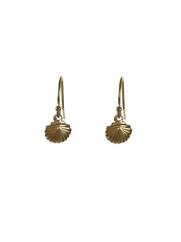 Blinckstar Earring Hook Shell Small Gold