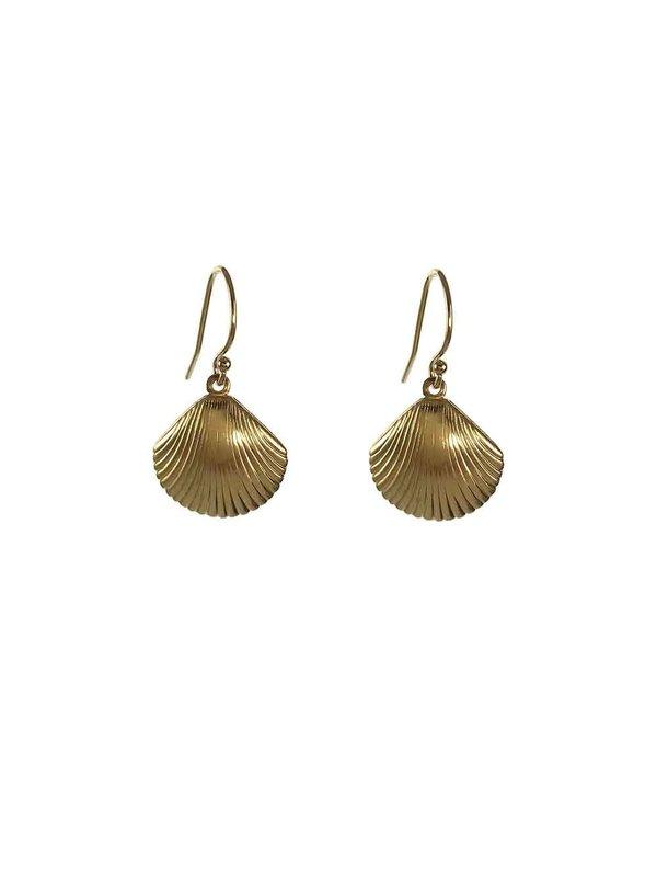 Blinckstar Earring Hook Shell Medium Gold