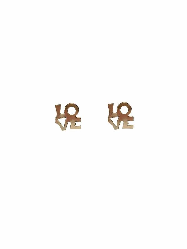 Blinckstar Earring Stud LOVE Gold