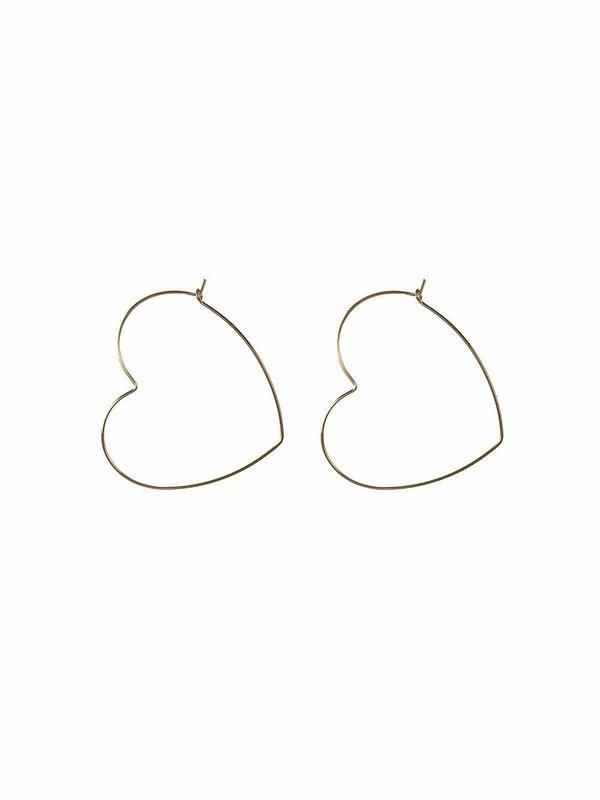 Blinckstar Earring Heart Hoop XL Gold