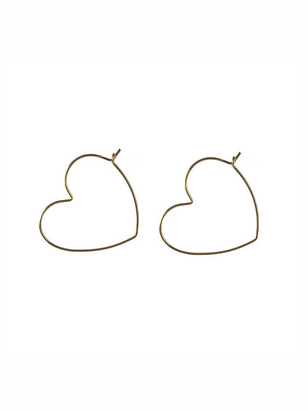 Blinckstar Earring Heart Hoop M Gold
